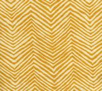 AC303-13 PETITE ZIG ZAG Inca Gold on Tint Quadrille Fabric