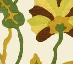 AC804-18 POTALLA Multi Greens Rust on Tint Quadrille Fabric