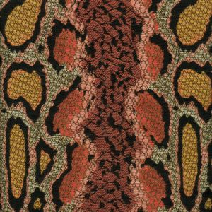 010910T PYTHONE Multi Rose with Gold Quadrille Fabric
