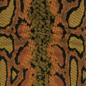 010912T PYTHONE Multi Terracotta Quadrille Fabric