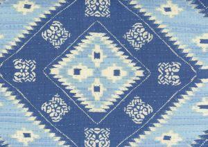 306620F-05 QUILT BATIK Multi Denim Blues Quadrille Fabric