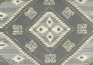 306620F-03 QUILT BATIK Multi Grays on Linen Quadrille Fabric