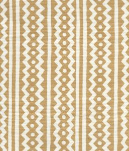 AC935-01 RIC RAC New Camel On Tinted Linen Cotton Quadrille Fabric