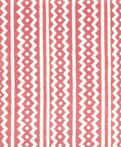AC935-04 RIC RAC New Shrimp On Tinted Linen Cotton Quadrille Fabric
