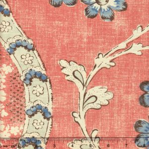 2438-01 RIVIERE ENCHANTEE Saumon Quadrille Fabric