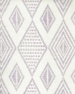 AC850-04 SAFARI EMBROIDERY Soft Lavender on Tint Quadrille Fabric