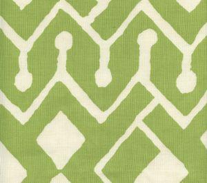 AC107-32 SAHARA Jungle Green on Tint Quadrille Fabric