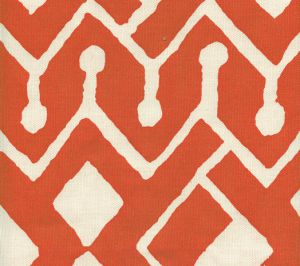 AC107-03 SAHARA Orange on Tint Quadrille Fabric
