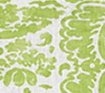 2330W-10 SAN MARCO New Green on White Quadrille Fabric