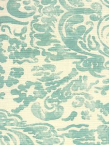 2330-03 SAN MARCO Turquoise on Tint Quadrille Fabric