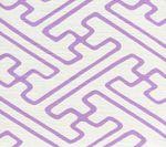 AC207-2101 SAYA GATA Lavender Lines on White Quadrille Fabric