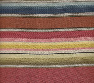 009370T SERAPE MEXICANO Multi Reds with Blue Quadrille Fabric