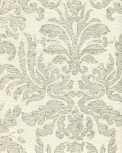 302886F-CU SEVILLA DAMASK Grey on Tint  Quadrille Fabric