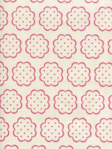 JF01060-04 SYBIL Hot Pink On Tint Quadrille Fabric