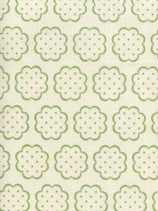 JF01060-06 SYBIL Jungle Green on Tint Quadrille Fabric