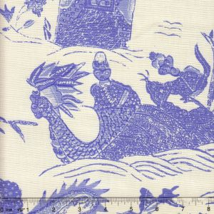 7250-06 TABLEAU II Periwinkle on Tint Quadrille Fabric