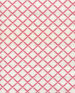 302309FW TERRACE Watermelon on White Quadrille Fabric