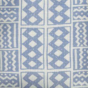 AC930-01 TIE DYE New Blue Quadrille Fabric