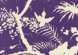 306233F TROPIQUE BLOTCH ONE COLOR Purple on Tint Quadrille Fabric