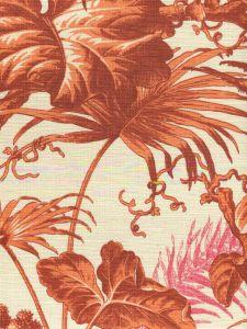 306197F TROPIQUE Multi Oranges on Tint Quadrille Fabric