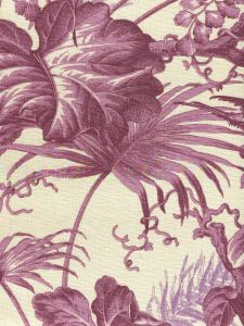 306193F TROPIQUE Multi Purple on Tint Quadrille Fabric