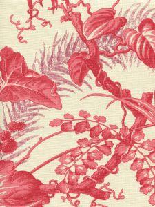 306194F TROPIQUE Multi Reds on Tint Quadrille Fabric