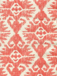 306217F TUCSON Orange on Tint Quadrille Fabric