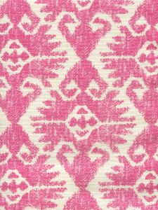 306216F TUCSON Pink on Tint Quadrille Fabric