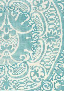 302205F VENETO Venice Blue Quadrille Fabric