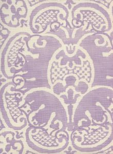 302200B-05 VENETO NEUTRAL Soft Lavender on Tint Quadrille Fabric