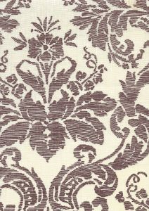 302319F-CU VICTORIA Mocha on Tint Quadrille Fabric