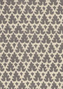 304046T VOLPI Steel Grey on Tan Quadrille Fabric