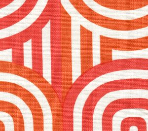 AC210-10 WAVELENGTH Orange on Oyster Quadrille Fabric