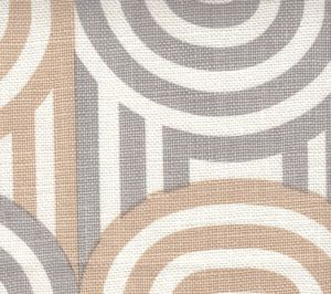 AC210-19 WAVELENGTH Pale Grey Pale Taupe on Oyster Quadrille Fabric