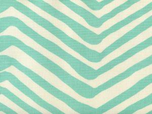 AC305-08 ZIG ZAG LARGE SCALE Bright Turquoise on Tint Quadrille Fabric