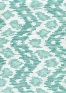 7335V-04W ZIZI VERTICAL Aquas on White Quadrille Fabric