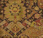 009680T ZODIAC Multi Red Gold Black Quadrille Fabric