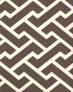 6345-09WP AGA REVERSE Brown On Off White Quadrille Wallpaper