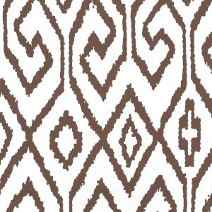 7240-06WP AQUA IV Brown On White Quadrille Wallpaper
