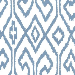 7240-08WP AQUA IV French Blue On White Quadrille Wallpaper