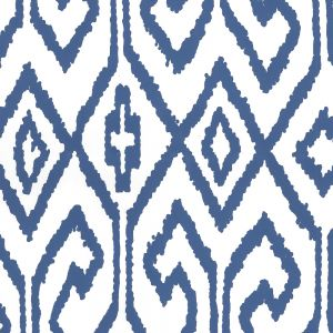 7240-13WP AQUA IV Navy On White Quadrille Wallpaper