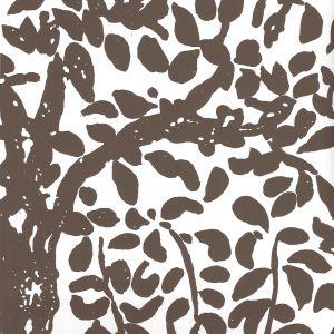 2030-05WWP ARBRE DE MATISSE Brown On White Quadrille Wallpaper