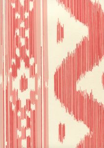 2020-02OWP BALI HAI Salmon On Off White Quadrille Wallpaper