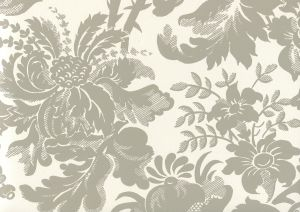 306086W DES GARDES Gray On Off White Quadrille Wallpaper