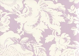 306583W DES GARDES REVERSE Soft Lavender On Off White Quadrille Wallpaper