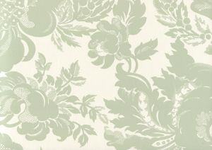 306082W DES GARDES Soft French Green On Off White Quadrille Wallpaper