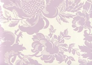 306083W DES GARDES Soft Lavender On Off White Quadrille Wallpaper