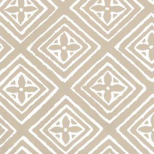 2490-40WP FIORENTINA Greige On Almost White Quadrille Wallpaper