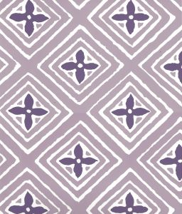 2500WP-16AWP FIORENTINA TWO COLOR Lavender Purple On Almost White Quadrille Wallpaper