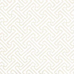 6890WP-02 JAVA JAVA Beige On White Quadrille Wallpaper